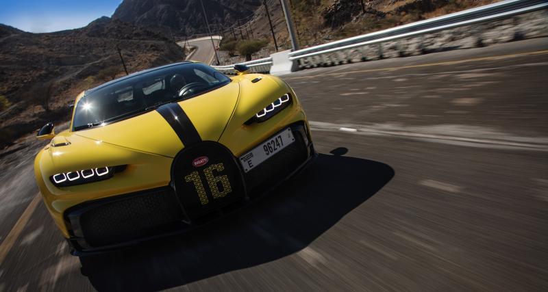 VIDEO - La Bugatti Chiron Pur Sport s'amuse dans les montagnes non loin de Dubaï