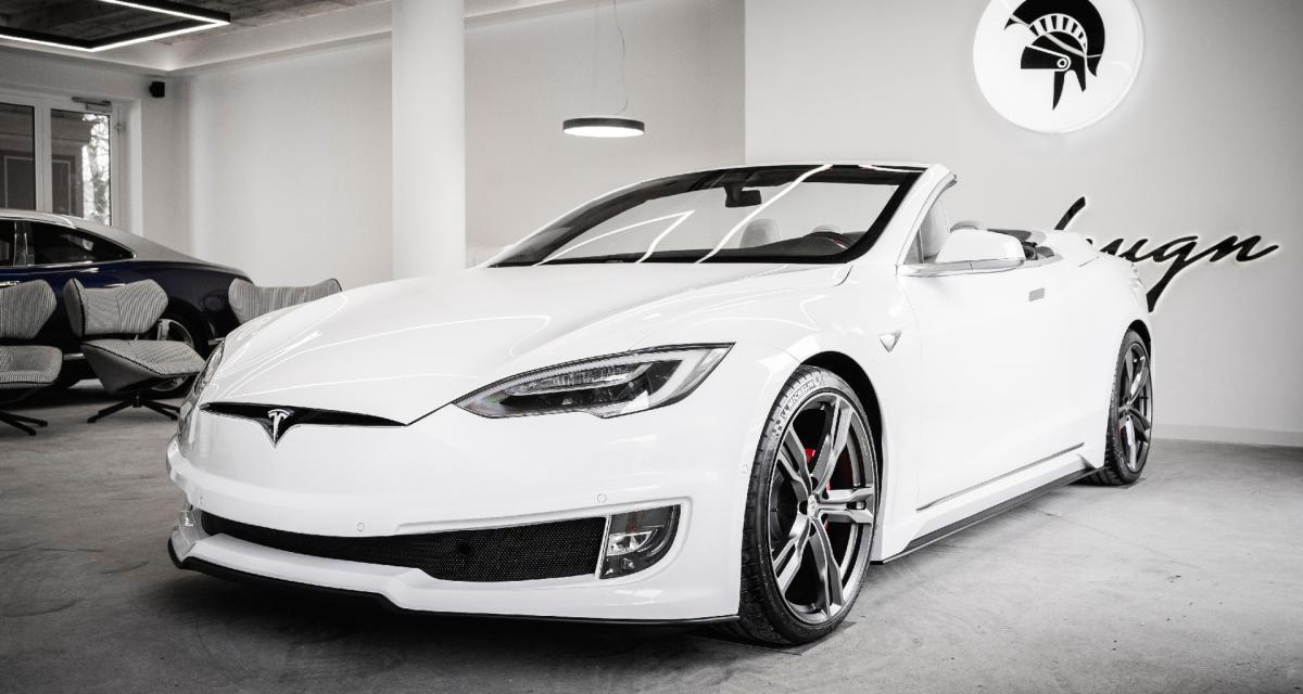 La Tesla Model S transformée en cabriolet de luxe par Ares Design