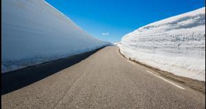 Une route chauffante pour se déneiger toute seule