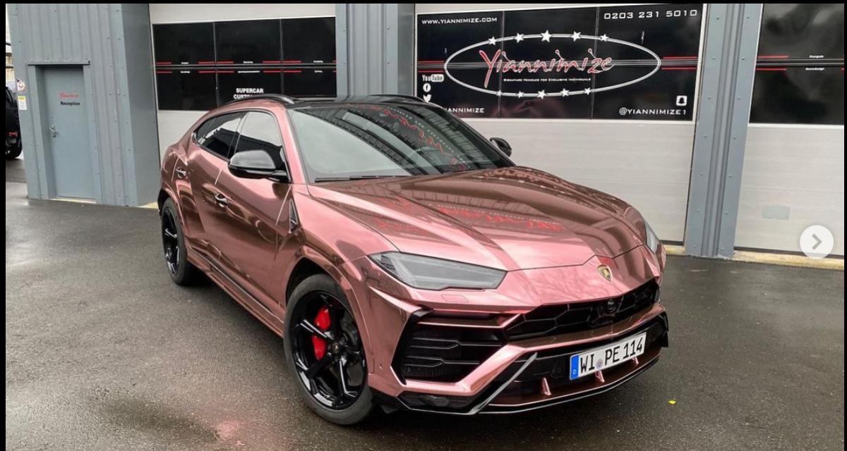 Aubameyang envoie une de ses Lamborghini se faire une petite beauté, le résultat est... spécial
