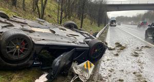 Une Ferrari 812 Superfast parmi les victimes de la tempête Christoph au Royaume-Uni