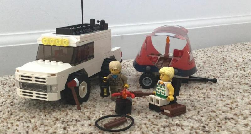 Un pick-up adapté en camping-car ? C'est possible avec Lego !