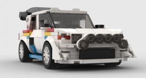 Peugeot 205 T16 : la championne de rallye reproduite en Lego par un fan