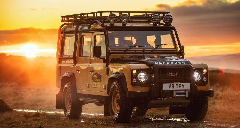 Land Rover Defender Works V8 Trophy : la classe à l'anglaise jusqu'au bout du monde