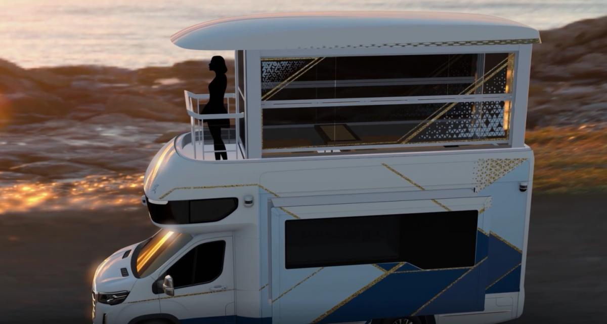 "Ascenceur et balcon pour le camping-car ""Villa Edition"" de SAIC Motor"