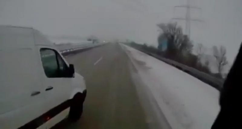 Une autoroute verglacée, ça peut vite devenir très dangereux