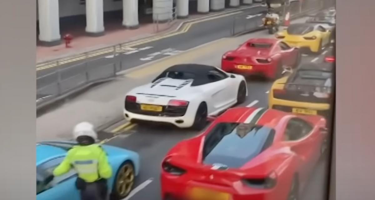 VIDEO - La police hongkongaise interpelle 45 supersportives pour des soupçons de courses de rue