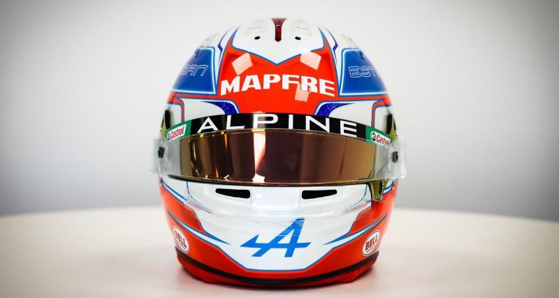 F1 : les photos du nouveau casque d'Ocon pour la saison 2021