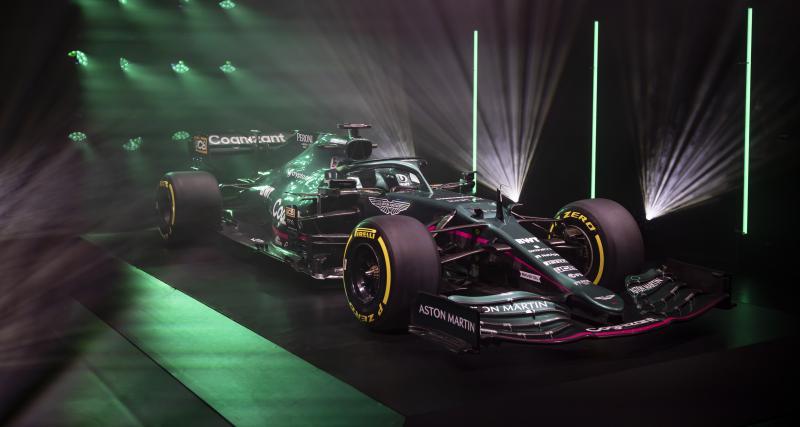 F1 : les photos de l'Aston Martin AMR21 de Vettel et Stroll