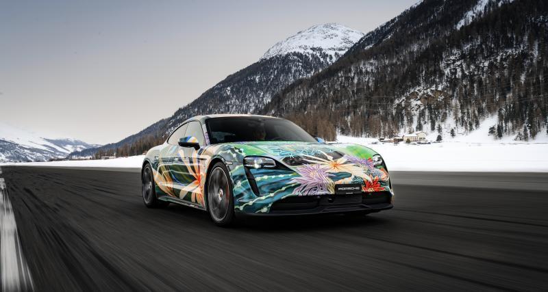 Porsche Taycan Artcar : le chef d'oeuvre électrique vendu aux enchères