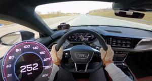 La nouvelle Audi RS e-tron (2021) poussée dans ses retranchements sur l'autoroute