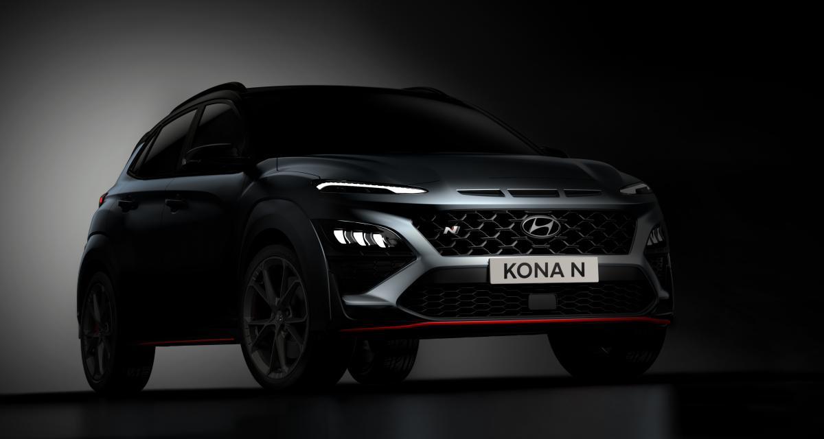 Hyundai Kona N (2021) : premières images officielles pour le SUV sportif
