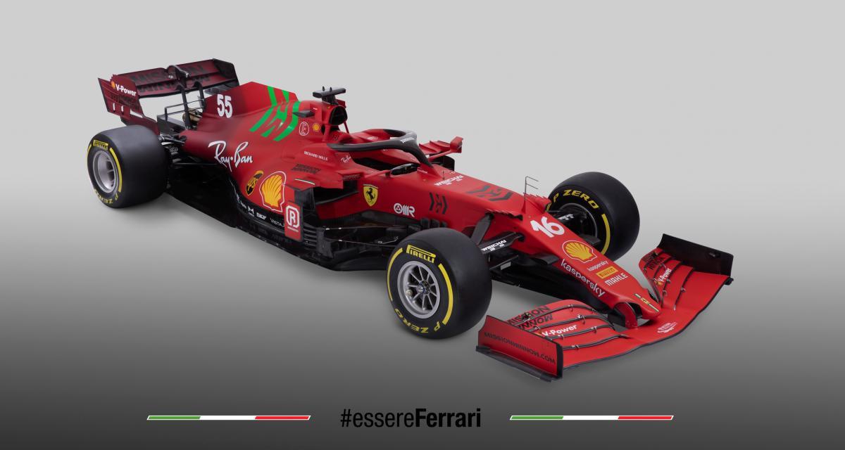 F1 - Scuderia Ferrari : les photos de la Ferrari SF21 de Leclerc et Sainz
