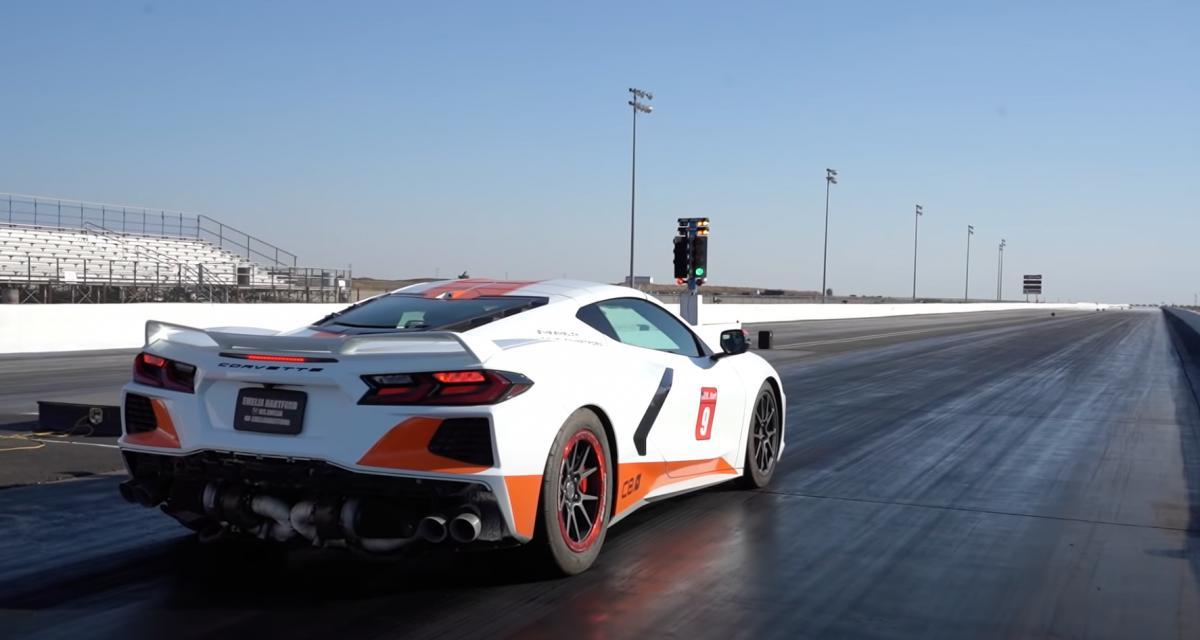 VIDEO - Cette Youtubeuse américaine explose un record du monde au volant de sa Corvette C8 de 1.022 chevaux