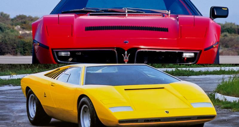 50e anniversaire : vous êtes plutôt Maserati Bora ou Lamborghini Countach LP 500 ?