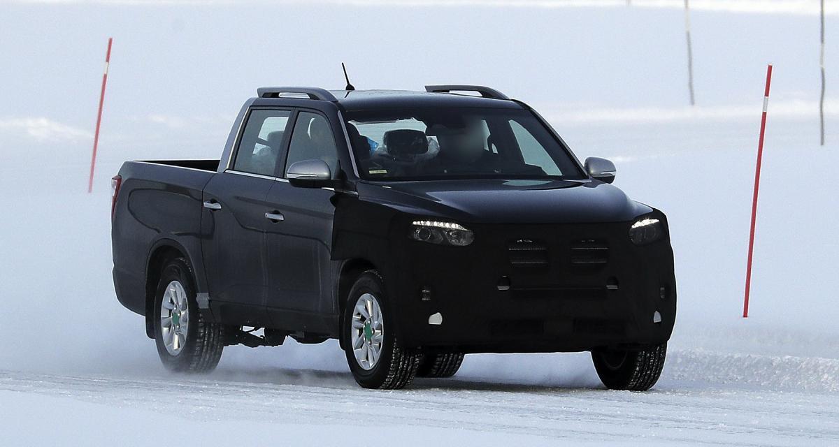 Futur SsangYong Grand Musso (2021) : le pick-up restylé aperçu en Laponie