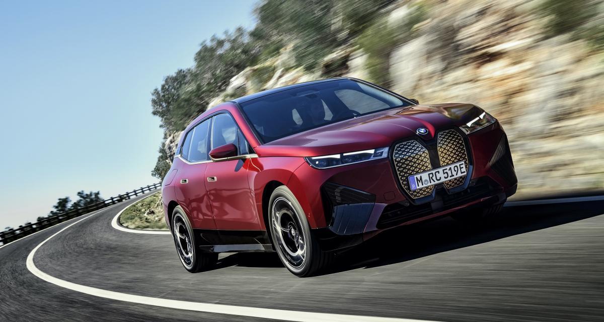 BMW iX (2021) : de 400 à 600 km d'autonomie, à partir de 86.250€