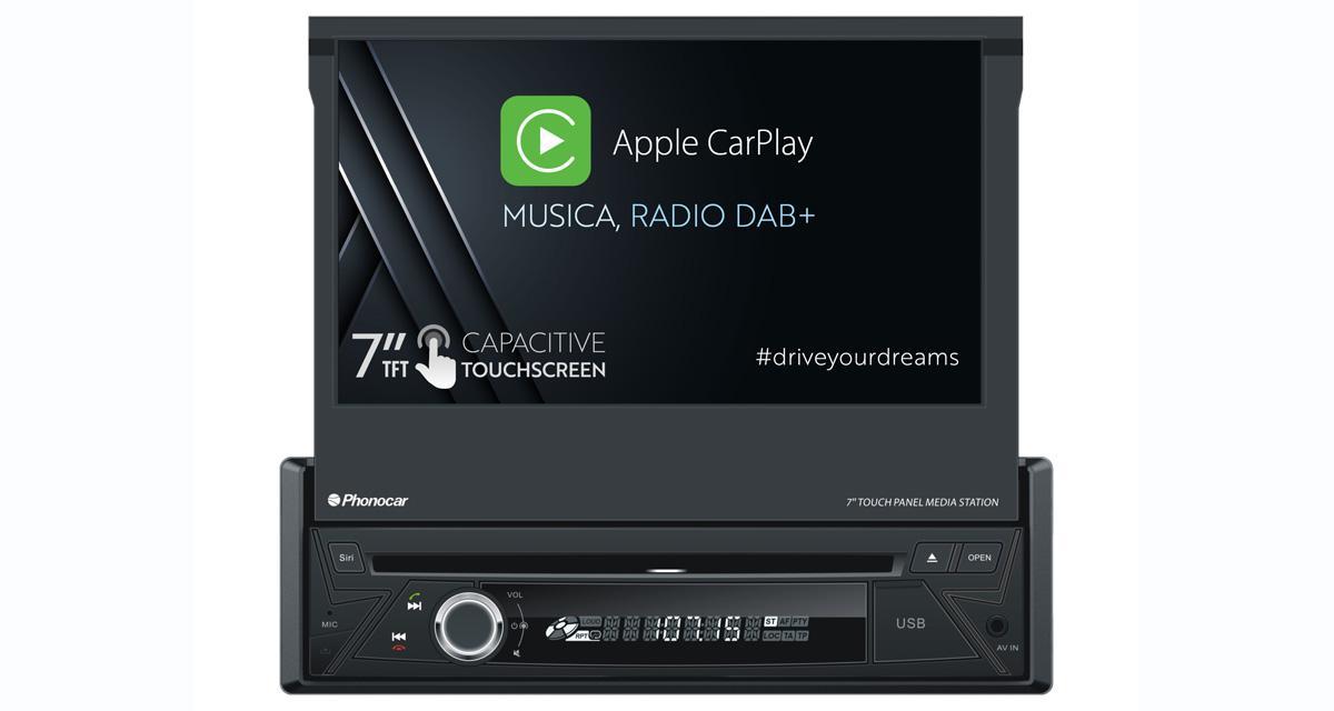 Phonocar présente un autoradio multimédia 1 DIN avec CarPlay et DAB à un prix canon