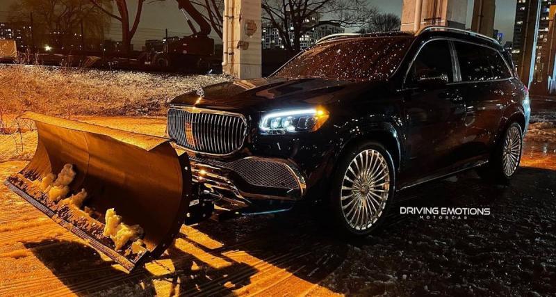 Le rappeur Drake transforme sa Mercedes-Maybach en une déneigeuse de luxe