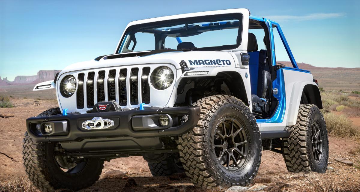 Jeep Wrangler Magneto : un inédit véhicule de franchissement 100% électrique