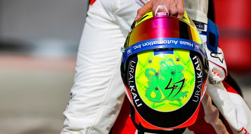 Mick Schumacher : les photos de son 1er casque en F1