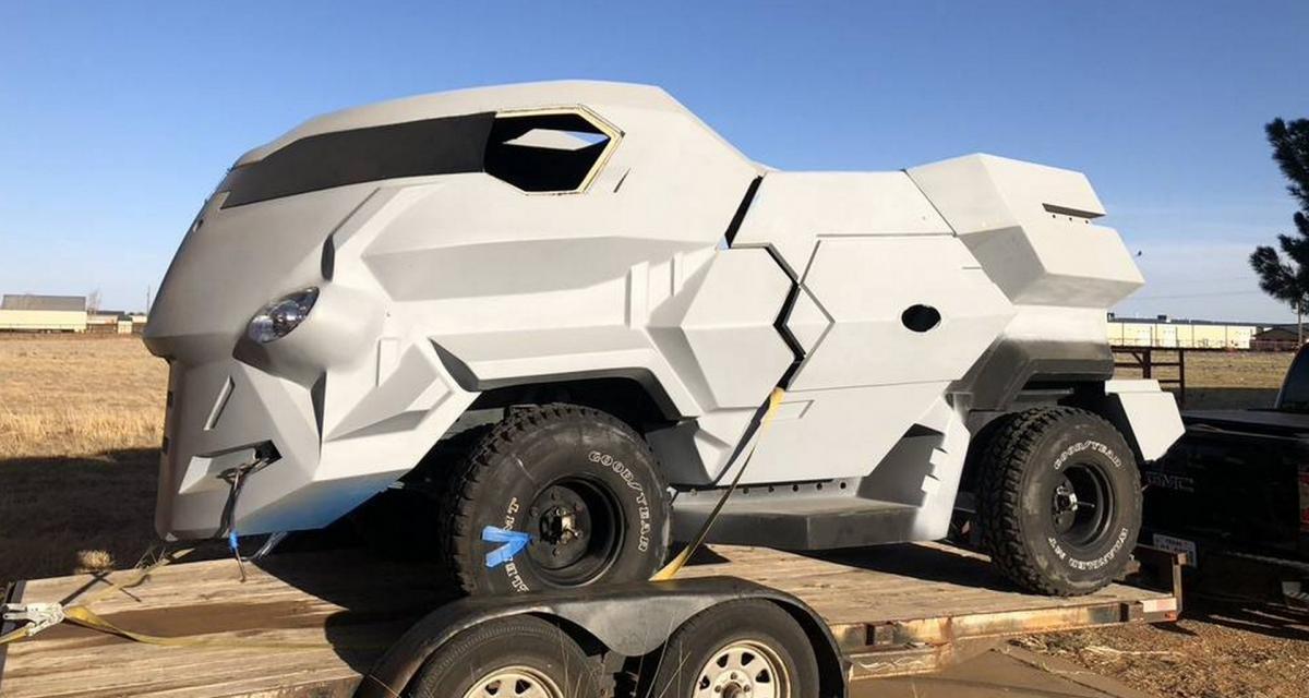 Devenez le Judge Dredd au volant de ce Land Rover modifié et mis en vente pour seulement 25.000$