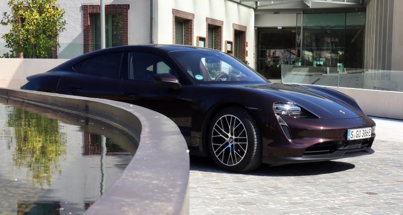 Essai de la nouvelle Porsche Taycan (2021) : nos photos de la version entrée de gamme de la berline électrique