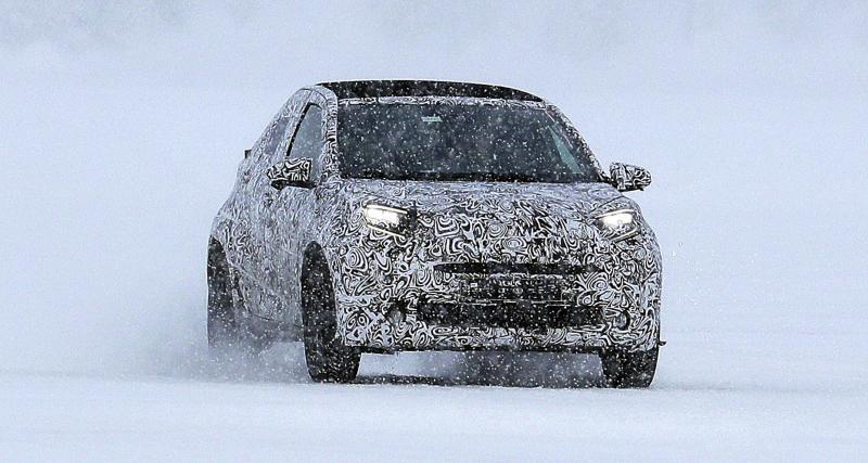 Toyota Aygo (2021) : la citadine surprise en phase de développement sous la neige
