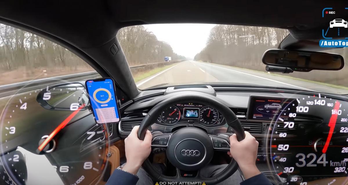 VIDEO - Il frôle les 330 km/h au volant de son Audi RS6 modifiée