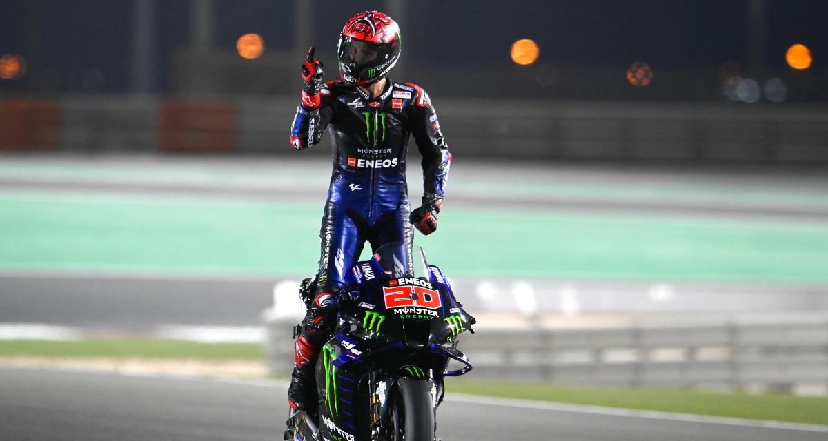 GP de Doha de MotoGP : la dédicace de Quartararo