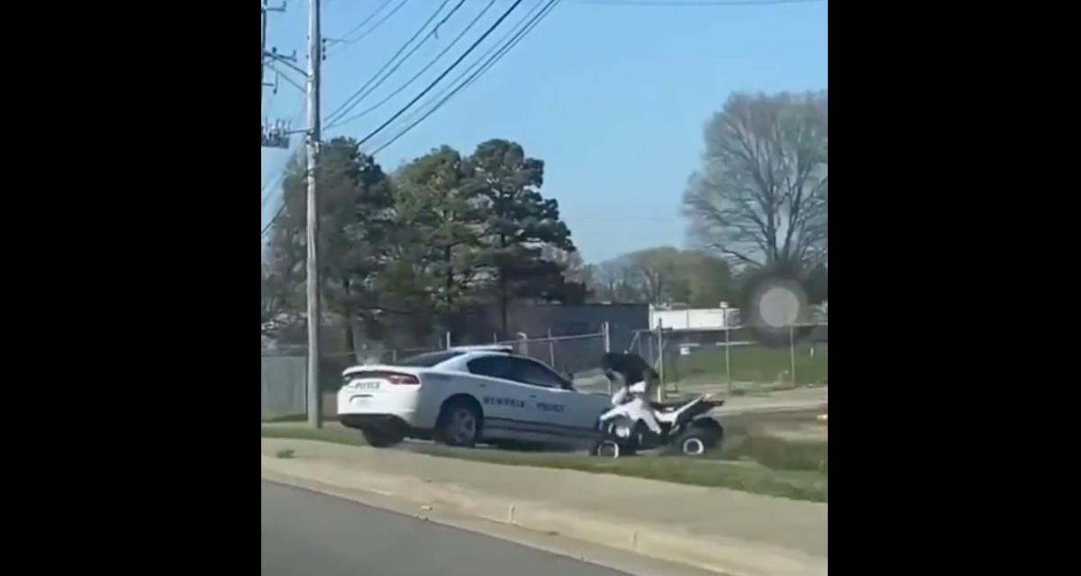VIDEO - La méthode très musclée des policiers de Memphis pour stopper un quad