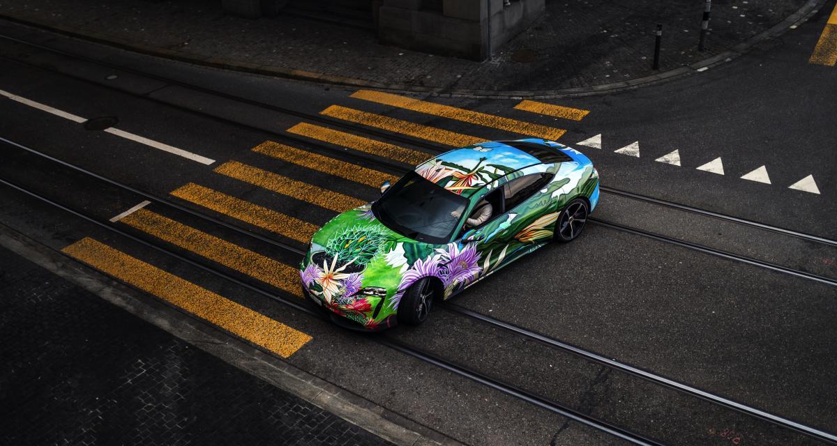 Porsche Taycan 4S Artcar : à vos enchères, c'est pour la culture !
