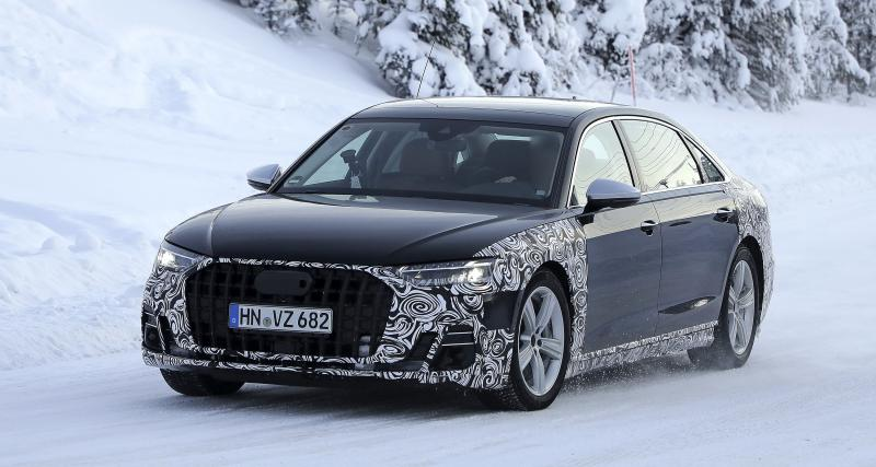 Audi A8 restylée (2022) : la limousine allemande chassée jusqu'en Scandinavie