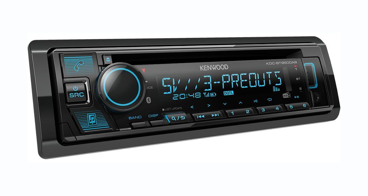 Un autoradio CD DAB très complet à prix attractif chez Kenwood-Electronics