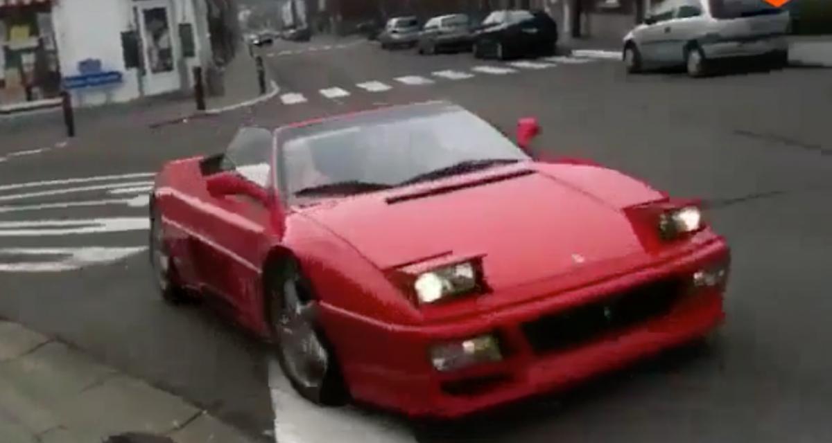 L'idiot du jour : il grille un stop pour faire le malin et plante sa Ferrari