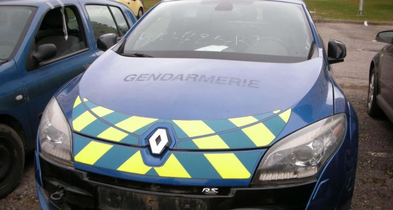 La gendarmerie met en vente aux enchères une Megane RS avec 254.163 km au compteur