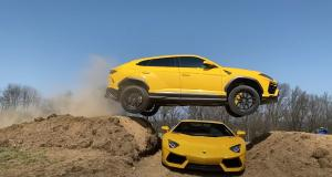 VIDEO - Il saute par-dessus une Lamborghini Aventador au volant de son Urus