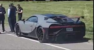 VIDEO - Vous ne verrez pas ça tous les jours : une Bugatti Chiron Pur Sport impliquée dans un accident de la route