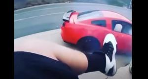 VIDEO - Il veut frimer dans sa Ford Mustang et manque d'emporter les spectateurs présents pour le show