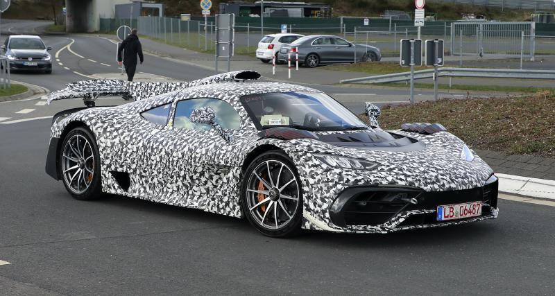 Mercedes-AMG One : la supercar camouflée aperçue au Nürburgring