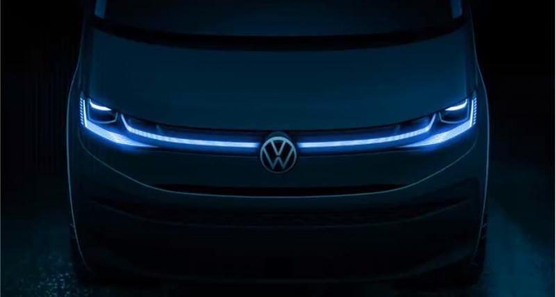 Le nouveau Volkswagen Multivan donne un aperçu de sa face avant