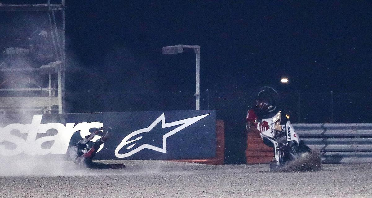 Essais libres 2 du GP du Portugal de MotoGP : la chute de Nakagami en vidéo