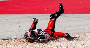 GP du Portugal de MotoGP : la chute de Johann Zarco en vidéo