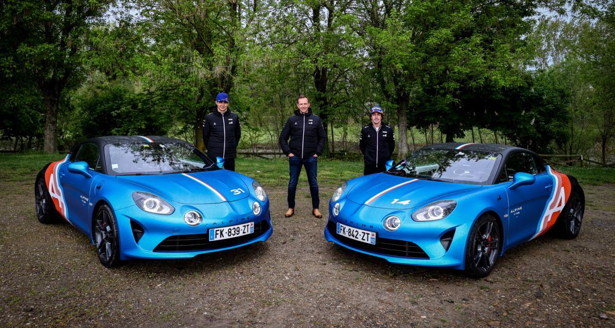 Alpine A110 Trackside : la sportive des pilotes aux couleurs de l'écurie de F1
