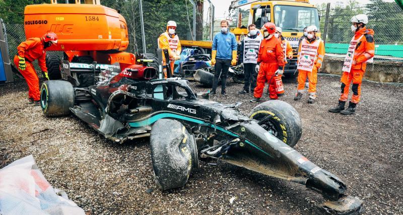 GP d'Emilie Romagne de F1 : le crash de Bottas risque de coûter très cher à Mercedes