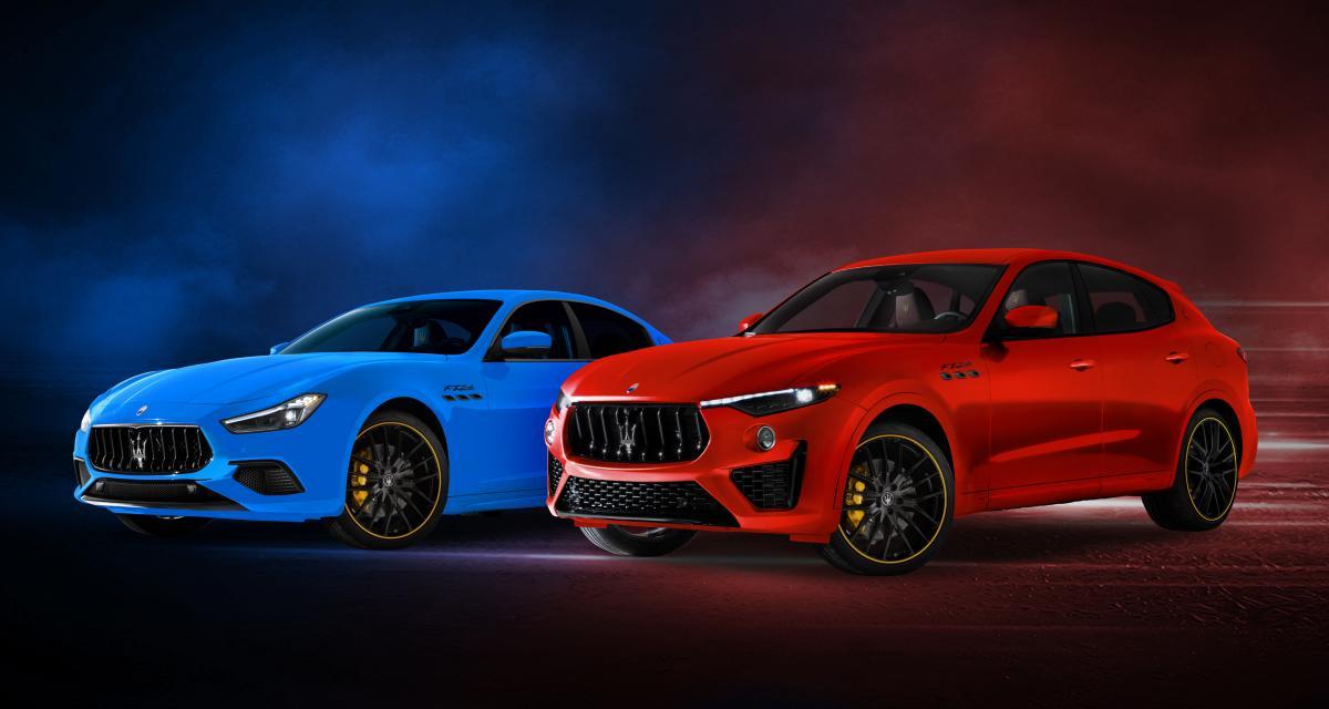 Maserati Ghibli et Levante F Tributo : une édition spéciale sportive et colorée