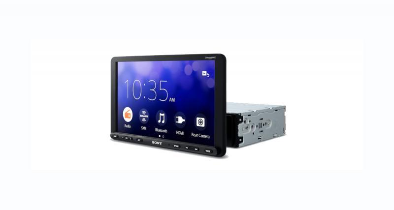 Sony dévoile un nouvel autoradio CarPlay et Android Auto avec un écran de 8,95 pouces