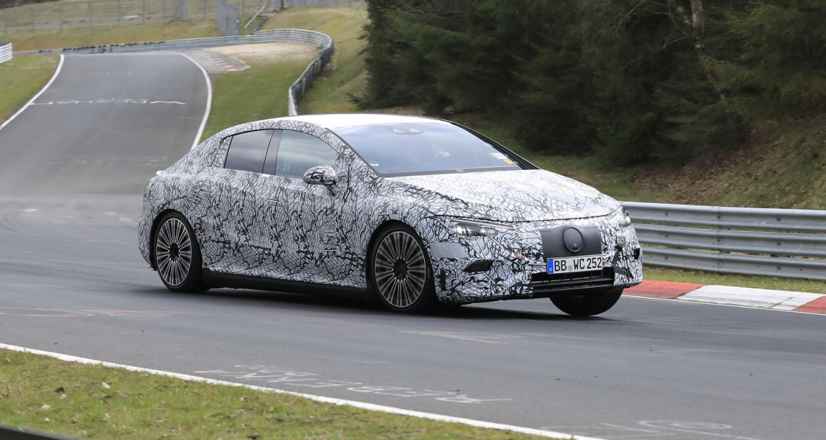 Mercedes EQE (2022) : la berline électrique en développement intensif en Allemagne
