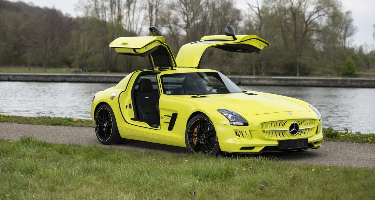 Qui se souvient de la Mercedes-Benz SLS AMG Coupé Electric Drive ?