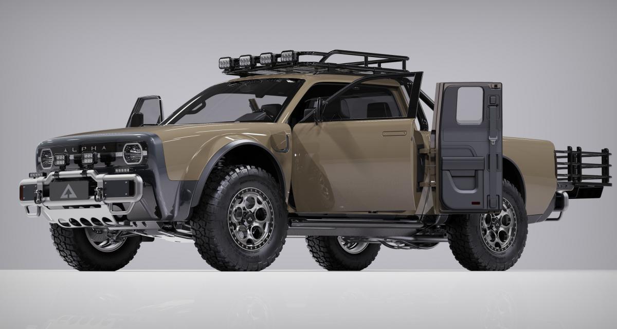Alpha Motors Wolf + : le pick-up 100% électrique ultra-modulable